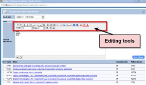 Subject Descriptor Editing Tools