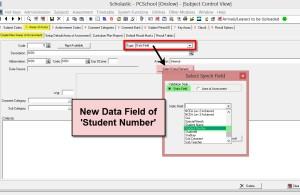 Student Number Datafield