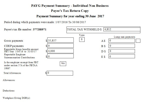 Payment Summary Changes